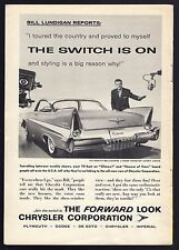 1957 CHRYSLER AUTOMOBILE AD~WILLIAM LUNDIGAN~PLYMOUTH BELVEDERE~DODGE~IMPERIAL