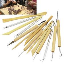 14 Stk Pottery Sculpture Carving Tool Schnitzwerkzeug Bildhauer werkzeuge Sets