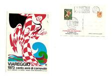 Cartolina illustrata Viareggio 1973 Cento Anni di Carnevale