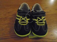 NWT baby boy Clarks shoes. Blue & neon green. 4F. RRP £32  1/1