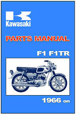 KAWASAKI Parts Manual F1 & F1TR 1966 on Replacement Spares Catalog List