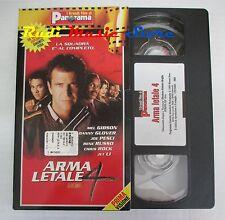 film VHS ARMA LETALE 4 Mel Gibson  cartonata Panorama 2000  ( FP2 * )  no dvd