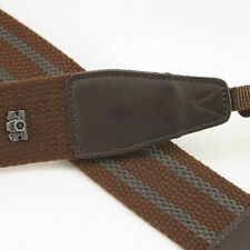 Brown Adjustable Non-slip DSLR Camera Strap by Cam-in