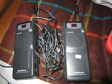 Set of 2 Radio Shack Citizen Band Transceiver TRC-236  40 Channel w/ Car Charger