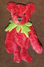 "SUSAN JANE KNOCK RED MINIATURE OOAK ARTIST BEAR - 3"" - NEW WITHOUT TAGS"