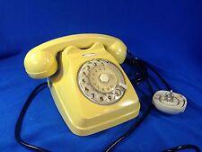 Telefono vintage a disco marca SIEMENS colore seppia