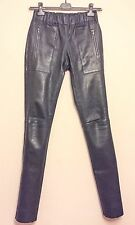 JOSEPH stretch BLACK pocket LEATHER leggings PANTS trousers GOAT £1100 BNWT