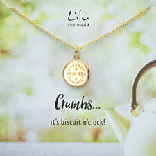 Lily Charmed 'Rich Tea' Gold Sterling Silver Necklace