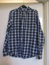 Green Blue & White Check Pinpoint Oxford Fitted Gant Shirt in Size Small