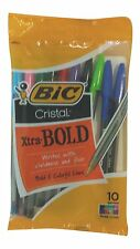 Bic Cristal Bold Colors 10 Pack Assorted Color Ball Point Style Pens