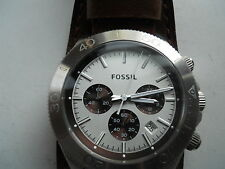 Fossil men's chronograph brown leather band Analog and dress watch.Great watch