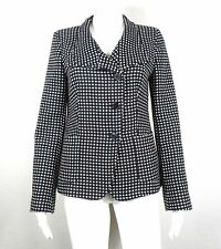 MAX MARA Made in Italy ~ Black/White Polka Dot WOOL & CASHMERE Coat ~ US 10