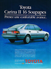 PUBLICITE ADVERTISING 015  1989  TOYOTA  CARINA II  16 soupapes