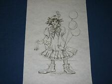 * TRI CHEM 7457 LOONY LINDA CLOWN WITH BALLONS Picture to paint TRICHEM