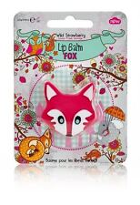 Pink Fox Lip Balm Stocking Filler - Wild Strawberry - Free 1st Class Delivery