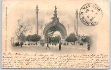 """1900 Paris World's Fair Postcard """"Exposition Universelle- Porte Monumentale"""""""