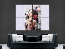 JAPANESE GEISHA WOMEN TATTOO ARTISTIC  ART WALL  LARGE IMAGE GIANT POSTER