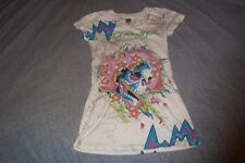 Ed Hardy Top Hollywood T-Shirt Women's XS  Skull