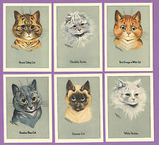 CATS  -  CRYSTAL  CAT  CARDS  -  SET OF 6 LOUIS WAIN CAT CARDS  -  PRIZEWINNERS