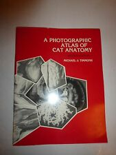 A Photographic Atlas of Cat Anatomy Book Second Edition Michael Timmons 1990 86