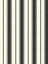Wallpaper Designer Country Black Stripe on Eggshell White