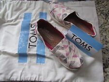 NEW TOM'S CASUAL SHOES GIRLS 2.5 MULTI COLOR LOAFERS SLIP ONS FREE BAG FREE SHIP