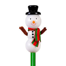 Snowman Hand Painted Character Pencil & Topper Set Party Bag Gift
