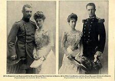 Hochzeiten im bayrischen Königshaus Prinz Rupprecht von Bayern Herzogin E...1900