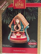 1992 Enchanted Clock Santa Hallmark Ornament Light and Motion QLX7274