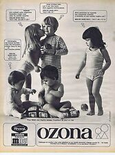 PUBLICITE ADVERTISING 015 1967 OZONA sous vêtement enfants