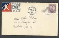 AUG 3 1932 COVER  LOS ANGELES SUMMER OLYMPICS CACHETED