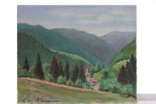 Kirche in den Bergen (Savoyen) , Ölgemälde, signiert H.Becker