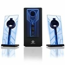 PC Computer Laptop Gaming Speaker System Sound Subwoofer Audio Desktop LED
