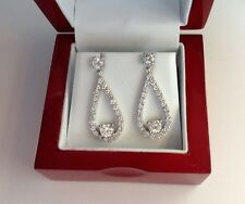 18K White Gold Diamond Earrings G VS1 HIGH END JEWELRY LOW END PRICE $12780