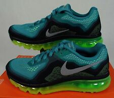 "New Womens 8 NIKE ""Air Max 2014"" Teal Flash Lime Running Shoes $180 621078-302"