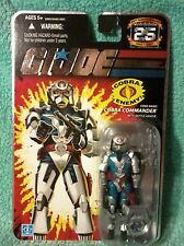 COBRA COMMANDER w/battle armor | GI joe 25th anniversary figure *HEAVY FOIL card
