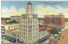 1931 Postcard St Petersburg Florida Princess Martha Suwannee Hotel Walgreen Drug