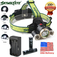 10000LM CREE 3XM-L T6 LED Headlamp 18650 Headlight 4 Modes Torch FlashLight Lamp