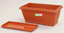 Easy Gardening Combo Offer Pack Royal 4 Rectangle Planters+Trays-(Pack of Three)