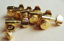 Lock Wilkinson 6R Gold  Guitar Locking Tuners JN-07 SP Fits Fende Strat Tele,