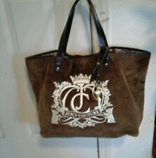 "JUICY COUTURE LOVE BROWN VELOUR  TOTE BAG""""FAB"""""