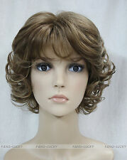 Excellent Brown Mixed Short Curly Women Ladies Daily wig FTTLD042