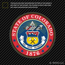 "4"" Colorado State Seal Sticker Decal Self Adhesive Vinyl the centennial state"