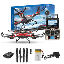 JJRC H8D 5.8G FPV Monitor 2MP Camera 2.4GHz 6-Axis Gyro RC Quadcopter Drone Red