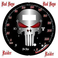 yamaha Star Raider 1900 Custom   Speedo Face Plate Big Pun t KM/H  & MPH