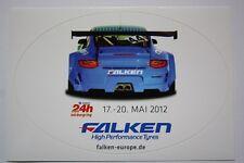 24h-carrera nurburgring norte bucle 2012-halcones equipo Porsche-ORIG. pegatinas
