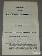 1939 QPBL Louis Lepine Signed Quebec Baseball Contract