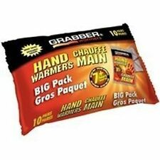NEW GRABBER HWEF10 FRESH BIG PACK 10 PAIRS 20 HAND WARMERS GREAT SALE PRICE