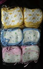 joblot,bundle,wholesale 30 baby bibs , size 0-6 months