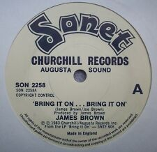 JAMES BROWN Bring It On / The Night Time Is The Right Time 1983 UK Sonet FUNK 7""